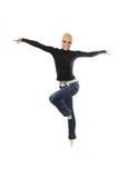 Springen Sie Tanz-Fliege stockfoto