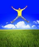 Springen Sie, um frei zu sein Lizenzfreie Stockfotografie