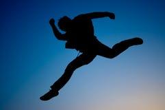 Springen Sie und vorwärts gehen Lizenzfreies Stockfoto