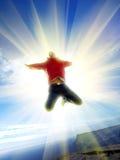 Springen Sie zum Paradies Stockfoto
