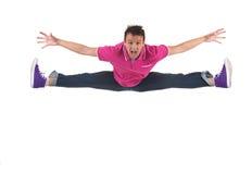 Springen und Schreien Lizenzfreies Stockbild