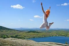 Springen zur Sonne Lizenzfreies Stockbild