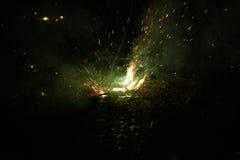 Springend Jack Fireworks Royalty-vrije Stock Foto