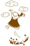 Springend meisje stock illustratie