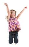 Springend meisje Royalty-vrije Stock Afbeeldingen