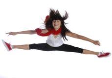 Springend meisje Stock Foto's