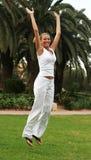 Springend meisje Royalty-vrije Stock Foto's