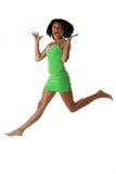 Springend meisje Royalty-vrije Stock Fotografie