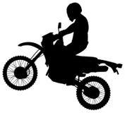 Springend Silhouet Dirtbike Royalty-vrije Stock Fotografie