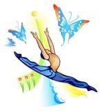 Springende balletdanser royalty-vrije illustratie