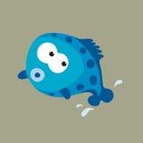 Springende blaue Fische Stockfoto