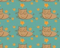 Springende Cat Seamless Lizenzfreie Abbildung