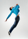 Springende danser Stock Fotografie