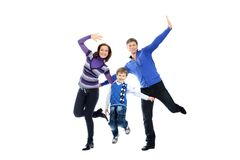 Springende Familie Stockbilder