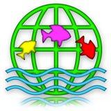 Springende Fische lizenzfreie abbildung