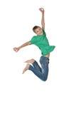 Springende geïsoleerde jongen Royalty-vrije Stock Afbeeldingen