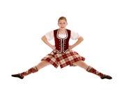 Springende Ierse Danser stock foto's