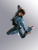 Springende jonge danser Stock Fotografie
