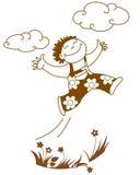 Springende jongen vector illustratie