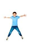 Springende jongen Royalty-vrije Stock Afbeeldingen