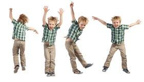 Springende jongen Royalty-vrije Stock Afbeelding