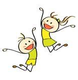 Springende Kinder Lizenzfreie Stockfotografie