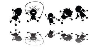 Springende kinderen Stock Foto's