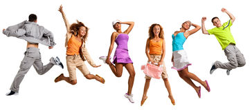 Springende Leute Lizenzfreies Stockfoto