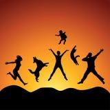 Springende Leute vektor abbildung