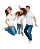 Springende Leute Lizenzfreies Stockbild