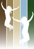Springende Mädchen 1 Lizenzfreie Stockbilder