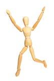 Springende mannequin stock afbeeldingen