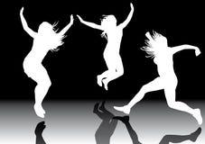 Springende meisjes 3 stock illustratie