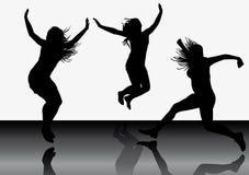Springende meisjes 6 stock illustratie