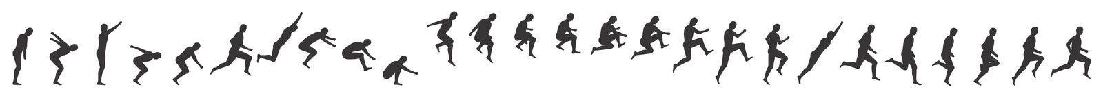 Springende mens Stock Illustratie
