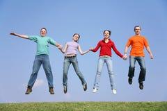 Springende mensen Royalty-vrije Stock Fotografie