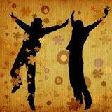 Springende mensen stock illustratie