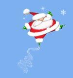 Springende Santa Claus Royalty-vrije Stock Fotografie