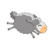 Springende Schafe auf weißem Hintergrund Lizenzfreie Stockfotos
