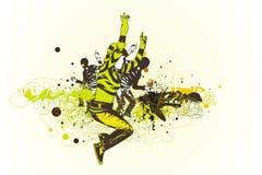 Springende und tanzende Leute Lizenzfreies Stockfoto
