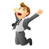 Springende zakenman Royalty-vrije Stock Foto