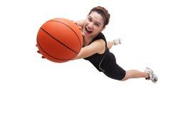 Springender Basketball-Spieler Stockfotografie