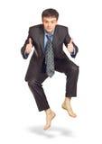 Springender Geschäftsmann Lizenzfreies Stockfoto