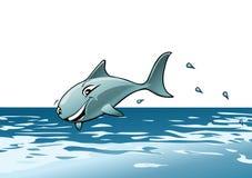 Springender Haifisch Stockfotografie