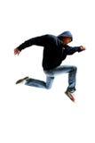 Springender junger Tänzer Lizenzfreies Stockbild