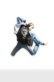 Springender junger Tänzer Stockfotografie