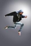 Springender junger Tänzer Stockbild