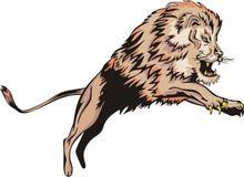 Springender Löwe Stockfoto