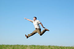 Springender Mann Lizenzfreies Stockfoto