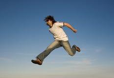 Springender Mann Stockbild